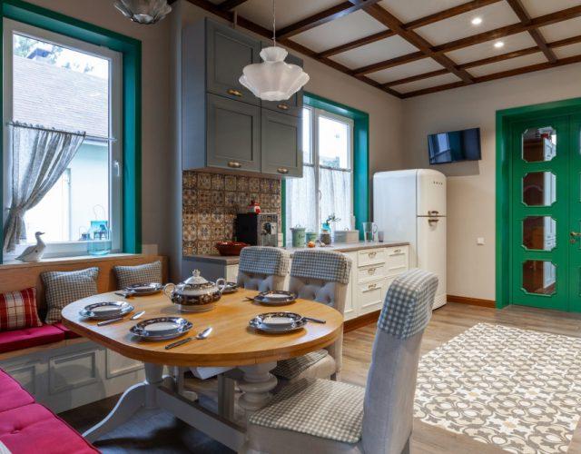 Готовый интерьер кухня-столовая